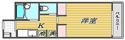 東京都大田区南馬込1丁目の賃貸アパートの間取り