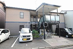 京都府京都市左京区一乗寺才形町の賃貸アパートの外観