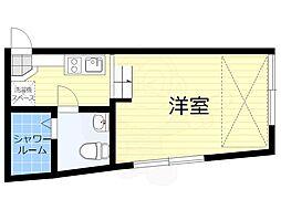Sora渋谷 2階ワンルームの間取り