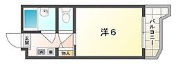 ロータリーマンション平代町[1階]の間取り