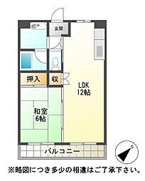 フラワー5番館[3階]の間取り