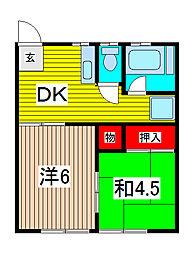 ゴールドマンション[1階]の間取り