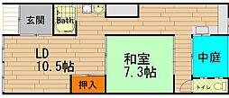 [テラスハウス] 大阪府大阪市西区九条3丁目 の賃貸【/】の間取り