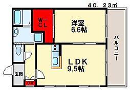 ラ・ヴェリテ[6階]の間取り