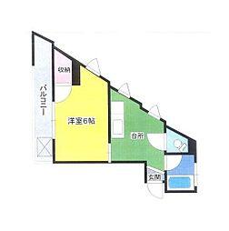 東京都練馬区羽沢1丁目の賃貸マンションの間取り