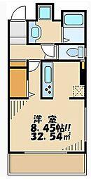 フォレシティ新蒲田 bt[-403kk号室]の間取り