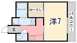 ヴィラナリー加古川[203号室]の間取り