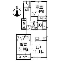 プチ・メゾンセレーノ1階[104号室]の間取り