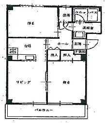 兵庫県姫路市飾磨区鎌倉町の賃貸マンションの間取り