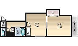 カーサミクニ[2階]の間取り