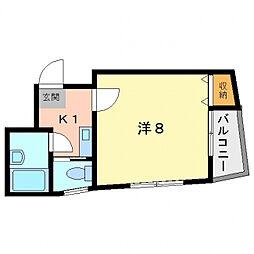 シャルマン淀江[4階]の間取り