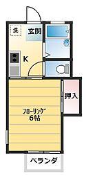 峰岡ハイツ[103号室]の間取り