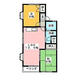 ハイネスソーワI[2階]の間取り