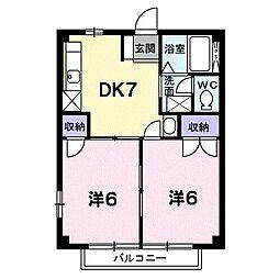 ドゥリーマー[0203号室]の間取り