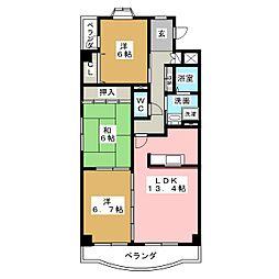 N.Y III[3階]の間取り