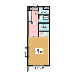 アソシエ[1階]の間取り
