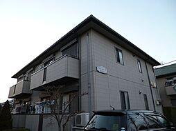 東京都福生市加美平3丁目の賃貸アパートの外観
