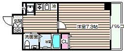 大阪府大阪市福島区福島2丁目の賃貸マンションの間取り