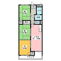 第1丸柴ビル[2階]の間取り