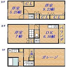 清水2丁目貸家[1階]の間取り