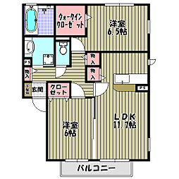 プランドールセレナ B棟[1階]の間取り