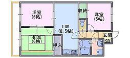 モアライフ酒井松[107号室]の間取り