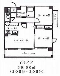 コスタ・カーサ[301号室]の間取り