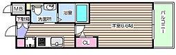 エステムコート梅田・天神橋2グラシオ[7階]の間取り