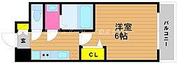 JR山陽本線 岡山駅 徒歩6分の賃貸マンション 4階1Kの間取り