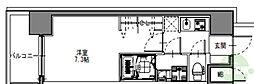 S-RESIDENCE三国WEST 4階1Kの間取り