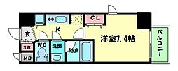 Osaka Metro谷町線 天満橋駅 徒歩5分の賃貸マンション 3階1Kの間取り