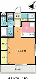 埼玉県上尾市愛宕3丁目の賃貸マンションの間取り