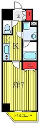 都営三田線 西台駅 徒歩9分の賃貸マンション 5階1Kの間取り