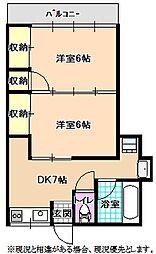 ササキコーポ(2F)[203号室]の間取り