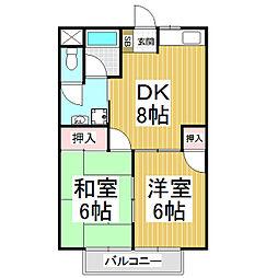 レジデンスK2[1階]の間取り