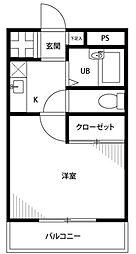 神奈川県綾瀬市蓼川1丁目の賃貸アパートの間取り