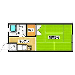 第一グリーンハイツ[2階]の間取り