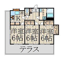 東京都中野区野方2丁目の賃貸アパートの間取り