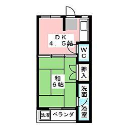 津金栄マンション[1階]の間取り