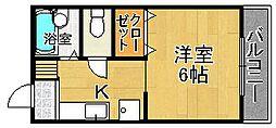 西川ハイツ2[2階]の間取り