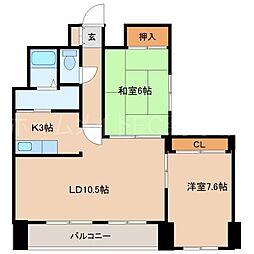 藤井ビル菊水III[9階]の間取り