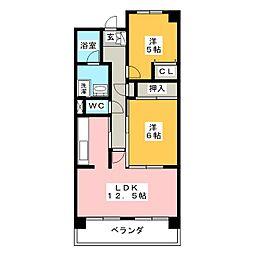 リバティオーク[8階]の間取り