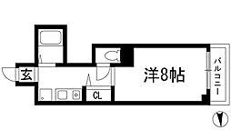 兵庫県川西市火打2丁目の賃貸マンションの間取り