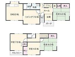 全室南向きで陽当たり良好な物件です。主寝室は7帖のゆとりある間取り。