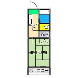 コーポ青雲[3階]の間取り