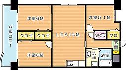 サンディエゴ永野VI[8階]の間取り