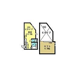 Well−B横濱反町I[0205号室]の間取り