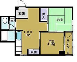 コータスKN[3階]の間取り