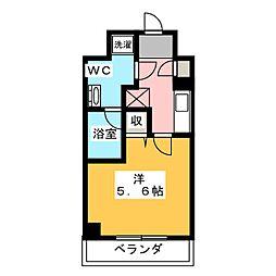 LUMEED川崎 4階1Kの間取り