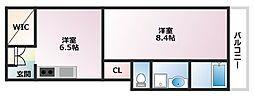 EISHO LIFE 3階1DKの間取り